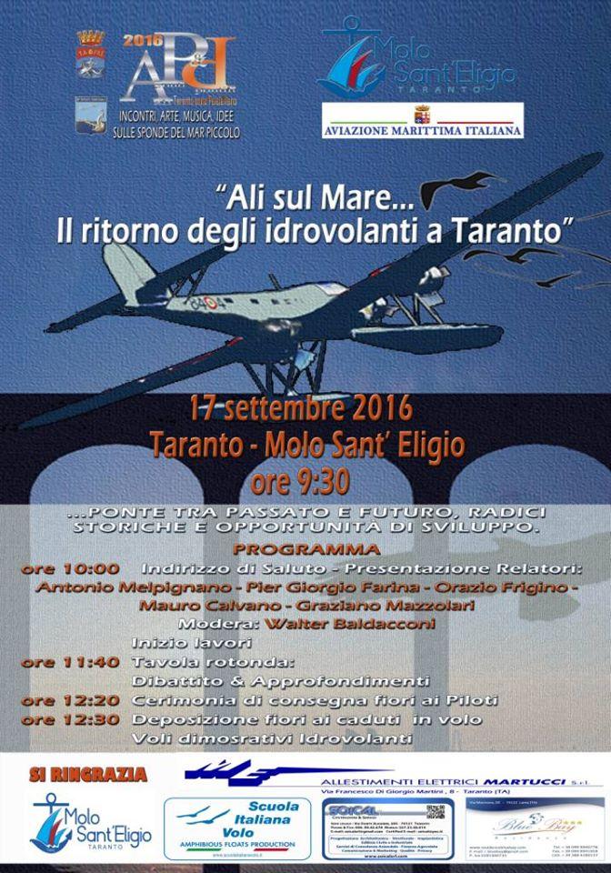 Ali sul Mare. Il ritorno degli Idrovolanti a Taranto