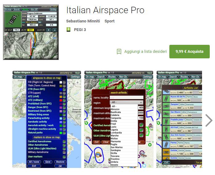 Italian Airspace Pro, nuova App aggiornata alla versione professionale
