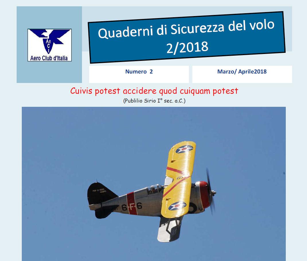 2° Quaderno Sicurezza Volo AeCi anno 2018