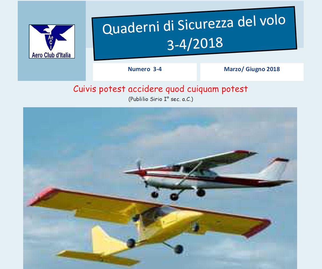 3° e 4° Quaderno Sicurezza Volo AeCi anno 2018