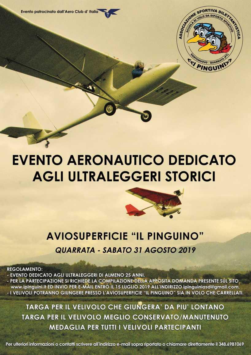 Evento aeronautico dedicato agli ultraleggeri storici